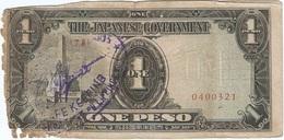 Filipinas - Philippines 1 Peso 1943 Pk 109 A.2.1 Sello Ref 11 - Philippinen