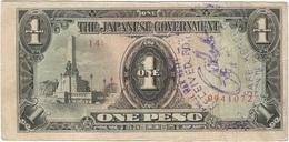Filipinas - Philippines 1 Peso 1943 Pk 109 A.2.1 Sello Ref 12 - Philippinen