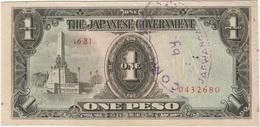 Filipinas - Philippines 1 Peso 1943 Pk 109 A.2.1 Sello Ref 13 - Philippinen