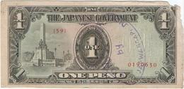 Filipinas - Philippines 1 Peso 1943 Pk 109 A.2.1 Sello Ref 14 - Philippinen