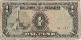 Filipinas - Philippines 1 Peso 1943 Pk 109 A.2.1 Sello Ref 15 - Philippinen