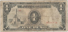 Filipinas - Philippines 1 Peso 1943 Pk 109 A.2.1 Sello Ref 16 - Philippinen