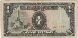 Filipinas - Philippines 1 Peso 1943 Pk 109 A.2.1 Sello Ref 17 - Philippinen