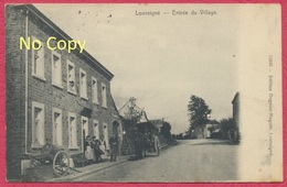 Louveigné Belgique : Entrée Du Village - Commerce Attelage / Guerre De 1914-18 Cachet Allemand De AACHEN Du 10-08-1914 - Andere