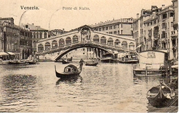 VENEZIA - Ponte Di Rialto, Gondole,  Verlag Brüder Kohn Wien, 23.4.1913 - Venezia (Venice)