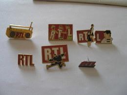 7 Pin's Radio RTL - Médias
