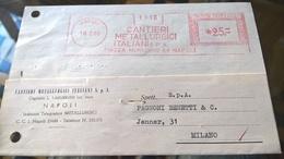 EMA NAPOLI 1960 CANTIERI METALLURGICI - Marcofilia - EMA ( Maquina De Huellas A Franquear)