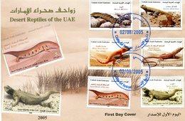 U.A.E.UNITED ARAB EMIRATES 2005 FDC With LIZARDS.BARGAIN.!! - Andere