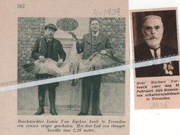 TREMELOO..1936..1939..BOSWACHTER LOUIS VAN EYCKENSCHOOT REUZEN REIGER/ NORBERT VERBEECK SCHUTTERSJUBILEUM - Vieux Papiers