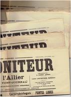 Lot De 14 Numéros  : Le Moniteur De L'Allier  De Novembre 1934 à Février 1935 - Newspapers