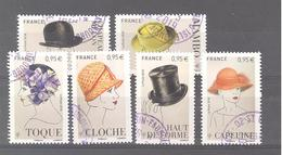 France Oblitérés N°5277 à 5282 (Chapeaux) (cachet Rond) - France