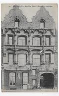 BETHUNE - N° 30 - HOTEL DU NORD EN 1915 AVEC PERSONNAGES  - DECHIRURE ET PERFORATION A DROITE - CPA VOYAGEE - Bethune