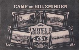 CAMP De HOLZMINDEN NOEL 1915 (de Garnier Armand Pour Céleste Thomas à Bleurville Vosges) - Holzminden