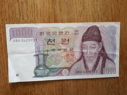 Billet De 1 000 Won Sud Coréen En Très Bon état - Korea (Süd-)