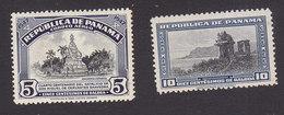 Panama, Scott #C105, C113, Mint Hinged, Cervantes Monument, Gate Of Glory, Issued 1948-49 - Panama