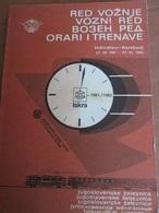 JUGOSLAVIA RAILWAY,  ITINERARY WITH MAP 1981 - Books, Magazines, Comics