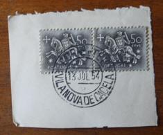 Marcofilia – Vila Nova De Cacela – 13.7.1954 – Cavalinho - Storia Postale