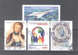 France Oblitérés : Concorde - Emilie Du Châtelet - Fontaine St-Michel Paris & N°5290 (cachet Rond) - Oblitérés