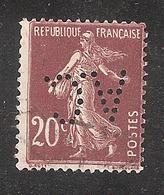 Perforé/perfin/lochung France No 139 A.C (34) - Perforés