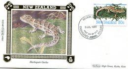 NEW ZEALAND 1984 FDC BANHAM-SILK VIGNET With LIZARD.BARGAIN.!! - Andere