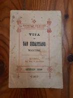 1890 - RAVENNA - VITA DI SAN SEBASTIANO MARTIRE - OPUSCOLO - SANTINO - Religione & Esoterismo