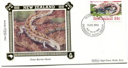 NEW ZEALAND 1984 FDC BENHAM-SILK VIGNET With LIZARD.BARGAIN.!! - Andere