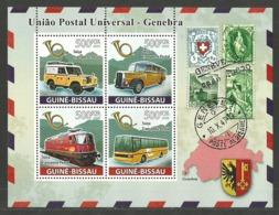 GUINEA BISSAU 2008 POSTAL TRANSPORT CARS BUSES TRAINS M/SHEET MNH - Guinea-Bissau
