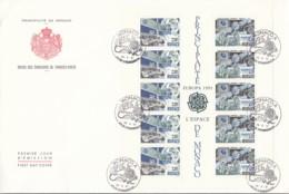 MONACO Block 50, FDC, Europäische Weltraumfahrt 1991 - Europa-CEPT