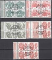 SCHWEIZ Heftchenblatt 145-149, Gestempelt, Volksbräuche 1984 - Postzegelboekjes