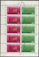 RUMÄNIEN  3020-3021, Kleinbogen, Gestempelt, Europa CEPT Mitläufer: INTEREUROPA 1972 - Europa-CEPT