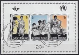 BELGIEN  Block 37, Gestempelt, Europäische Aktion Zur Flüchtlingshilfe 1967 - Blocks & Kleinbögen 1924-1960