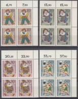 BERLIN  373-376, 4erBlock Eckrand, Postfrisch **, Wohlfahrt: Marionetten 1970 - Ungebraucht