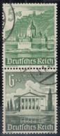DR  S 258, Gestempelt, WHW: Bauwerke 1940 - Zusammendrucke