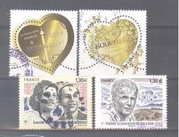 France Oblitérés : Coeurs De Boucheron à 0,88 & 1,76 - N°5219 & 5265 (cachet Rond) - France