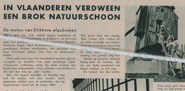 ETIKHOVE..1939..DE MOLEN VAN ETIKHOVE EEN BROK NATUURSCHOON VERDWEEN - Non Classés