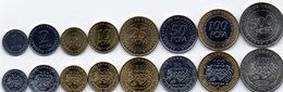 Central African St. - Set 8 Coins 1 2 5 10 25 50 100 500 FCFA Francs 2006 UNC Lemberg-Zp - Repubblica Centroafricana