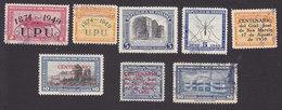 Panama, Scott #C114-C115, C119-C120, C122, C124, Used, Overprinted Issues, Mosquito, Issued 1949-50 - Panama