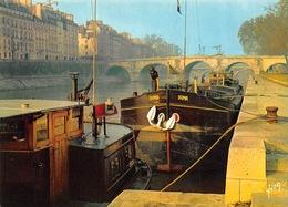 Carte Postale GRAND FORMAT PARIS (75) La Seine Au Pont Marie - Bâteau-Péniche - La Seine Et Ses Bords