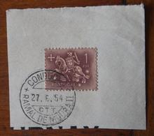 Marcofilia – Condução Ramal De Moura II – 27.6.1954 – Cavalinho - Marcofilia