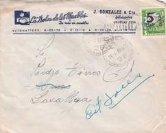 LA BOLSA DE LOS MUEBLES-COMMERCIAL ENVELOPE CIRCULEE 1926 URUGUAY - BLEUP - Uruguay