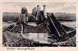 Dirschau Gesprengte Brücke Feldpost 1940 - Boehmen Und Maehren