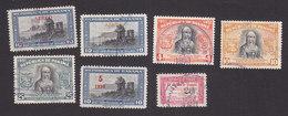 Panama, Scott #C127-C128, C131, C133-C134, C137-C138, Used, Gate Surcharged, Isabella I, Masthead, Issued 1952-53 - Panama