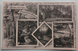 Gruss Aus Der Bremsdorfer Mühle, Post Fünfeichen, Logirhaus, Am Wehr, Mühle, 1909 - Deutschland