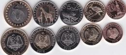 Sudan South - Set 5 Coins 10 20 50 Piastres 1 + 2 Pounds 2015 UNC Lemberg-Zp - Soedan