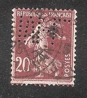 Perforé/perfin/lochung France No 139 M-L Maurice Ledoux - Perforés