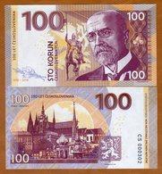 X. RARE : CZECHOSLOVAKIA , PRIVATE ISSUE - 100 KORUN 2018 , MASARYK - UNC - Czechoslovakia