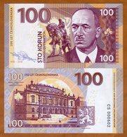X. RARE : CZECHOSLOVAKIA , PRIVATE ISSUE - 100 KORUN 2018 , BENES - UNC - Czechoslovakia