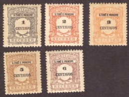 São Tomé E Principe 1921 - Porteado ( 5 Valores ) # MNH # - St. Thomas & Prince