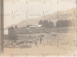 Photographie Argentique Champs Près De Villars-Gryon 1902 - Plaatsen