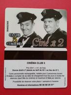 Cinécarte Carte Club 5 Laurel Et Hardy Avec Numéro Au Recto  (BC0415 - Biglietti Cinema